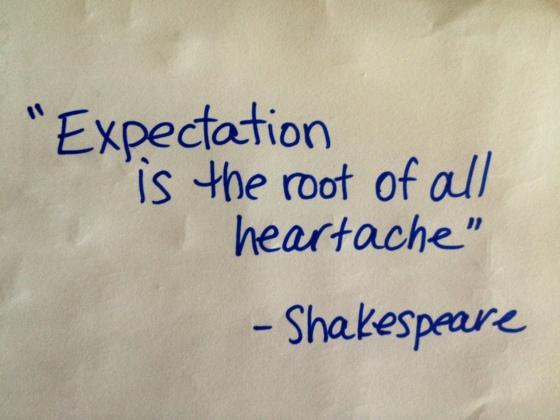 Shakespeare, expectations, Kimberley, Stokes, Yoga Life, Yogallery, Urban Yoga